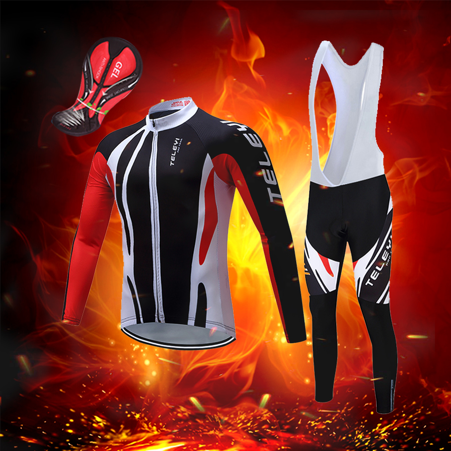 2019 winter thermal Fleece cycling clothing Men road bike jersey bib set Sport bicycle clothes pro team suit mtb dress male kit