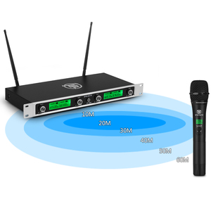 Image 3 - EPGVOTR 4 Channels UHF Wireless Microphone System EP 400 with 4 Metal Material Handheld Transmitters for Stage Church Family DJ
