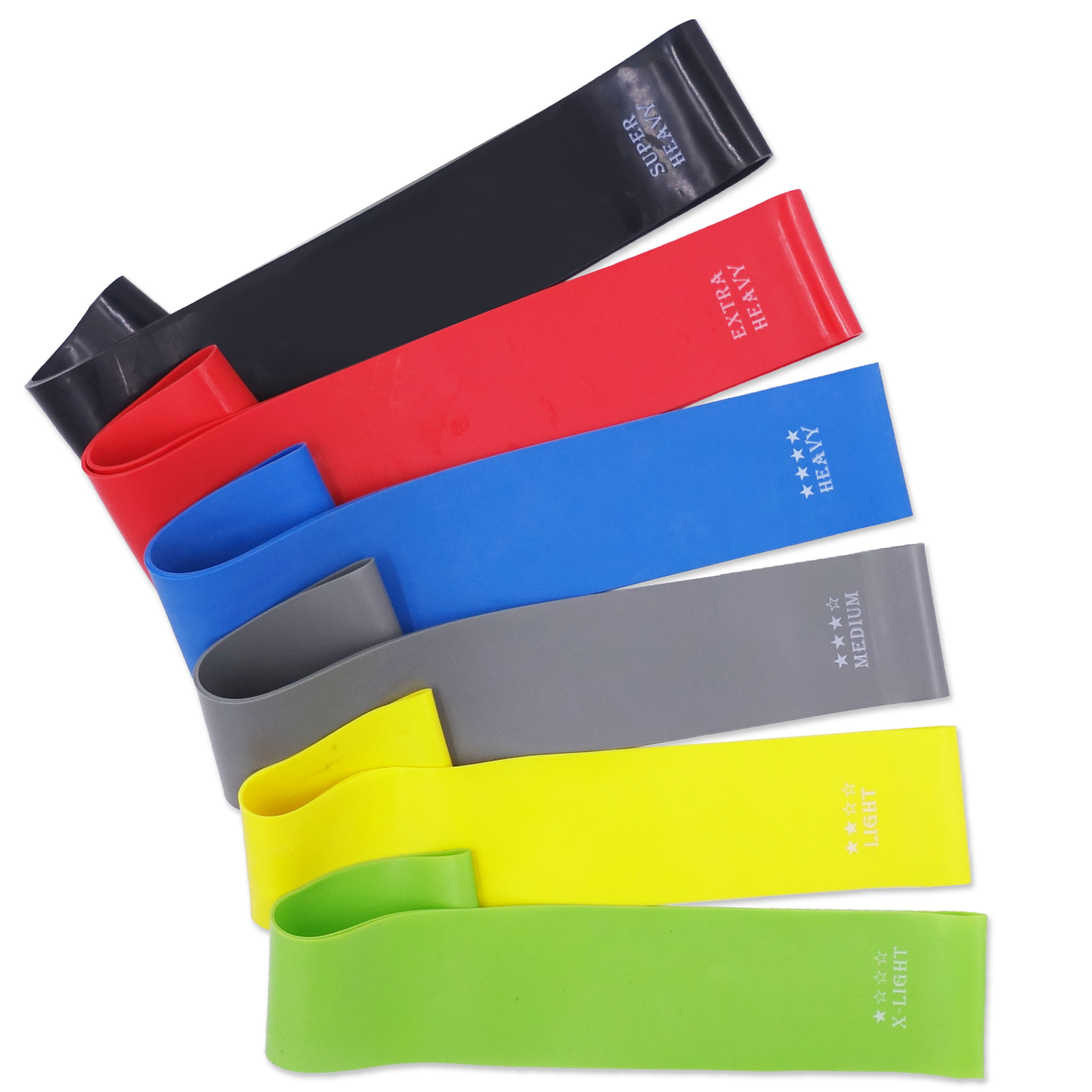 12-inch Yoga Resistance Bands 1.4mm-0.45mm Elastic Bands For Fitness Workout Crossfit Stretching Gym Strength Training Equipment