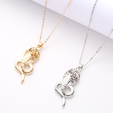 Fashion Elegant Animal Necklace Snake Retro Pendant Charm Gold And Silver Female Friends Exquisite Gift Jewelry