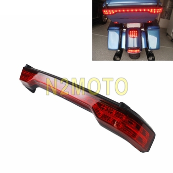 Motorcycle Black Chrome Running Brake Light LED Taillights For Harley Touring Road Glide Ultra Limited Tour Pack 2014-2018