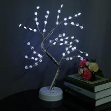 LED Tree Light Trees Shape Table Decoration Lamp Withe Color For Party Bedroom Dining Room led rgbw colorful color change christmas trees decoration wedding furniture decoration lamp