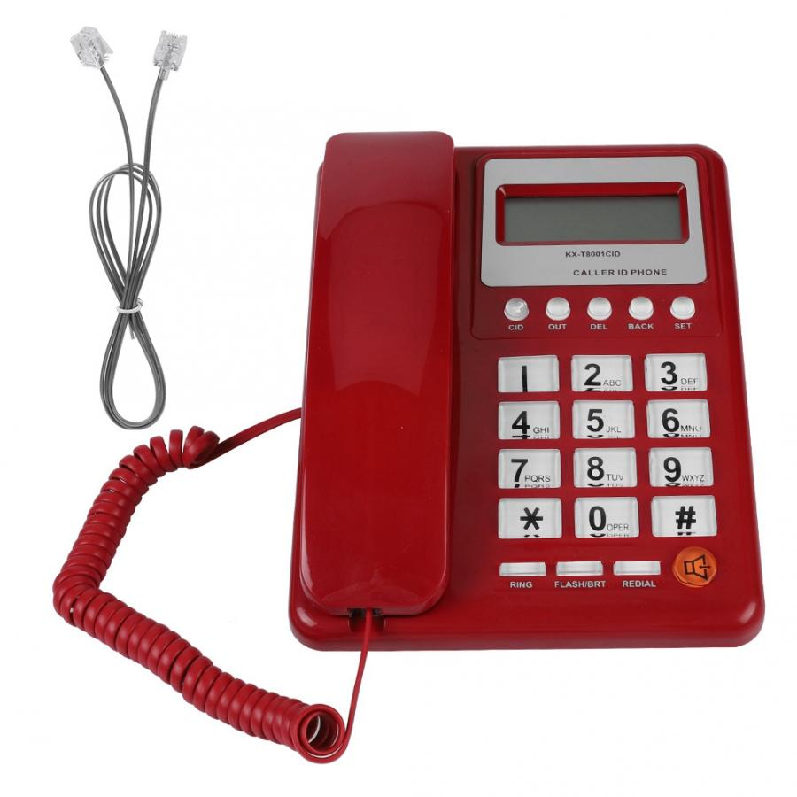Home Hotel Wired Corded Telephone Desktop Phone Office Landline Fixed Telephone Caller ID