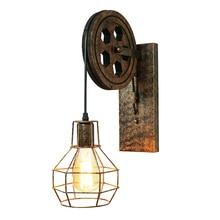 CE Железный винтажный внутренний настенный светильник e27 приспособление гибкий Ретро настенный светильник для спальни дизайн Лофт подъемный промышленный Настенный Бра
