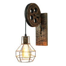 Loft industrial retro wall lamp creative lifting pulley wall light personalized dining room restaurant corridor cafe wall lamp loft retro lamp vintage lifting pulley wall lamp dining room restaurant aisle corridor pub cafe wall lamp bra wall sconce