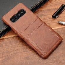 جراب محفظة جلدي لهاتف Samsung Galaxy ، متوافق مع S8 ، S9 ، S10 Plus ، Note 8 ، 9 ، 10 Plus ، جديد
