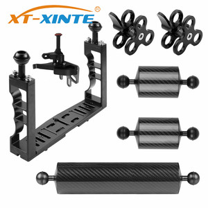Image 1 - XT XINTE Aluminum Underwater Diving Tray Kit Light Extension Arm Bracket System with Handle Grip Stabilizer Rig Sport SLR Camera