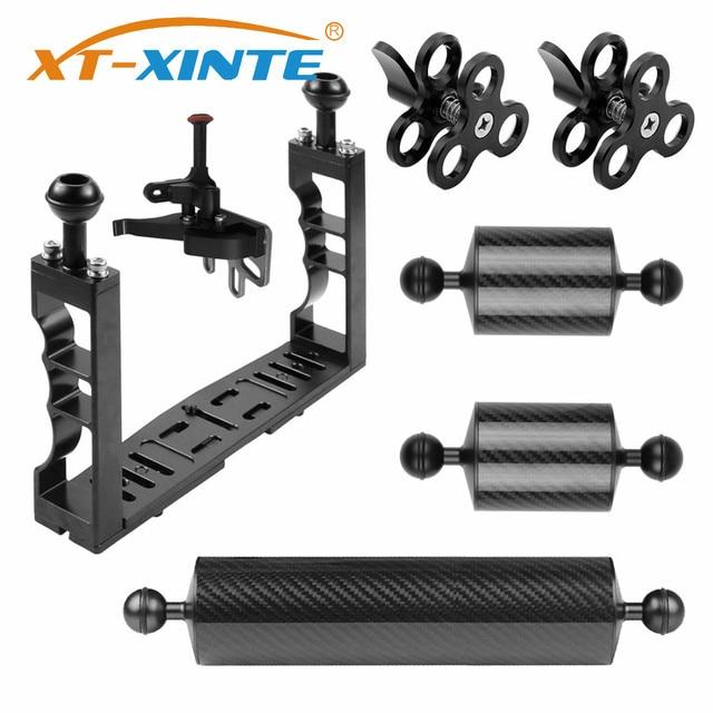 XT XINTE alüminyum sualtı dalış tepsisi kiti ışık uzatma kolu braketi sistemi kolu kavrama sabitleyici Rig spor SLR fotoğraf makinesi