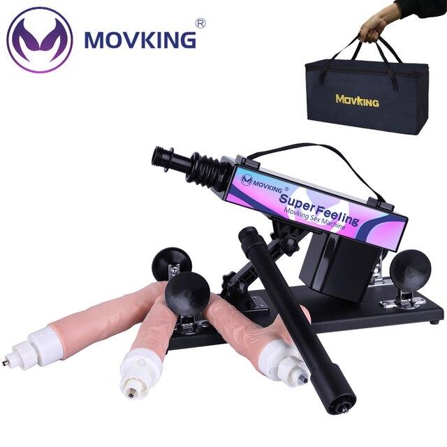MOVKING Sex Machine realistyczne Dildo z obrotem 360 ° i 12 trybami wibracji automatyczne wbijanie miłość maszyny pistolet dla kobiet i mężczyzn