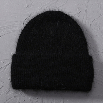 Casual Women's Hats Cashmere Wool Knitted Beanies Autumn Winter Brand New Three Fold Thick 2020 Knitted Girls Skullies Beanies 7