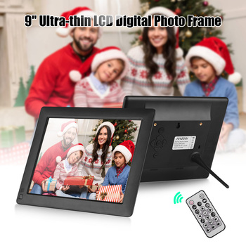 Andoer 9 Inch IPS-LCD Digital Photo Frame Desktop Album 1280 * 800 Supports Motion Detection Functions with 8GB Remote Control