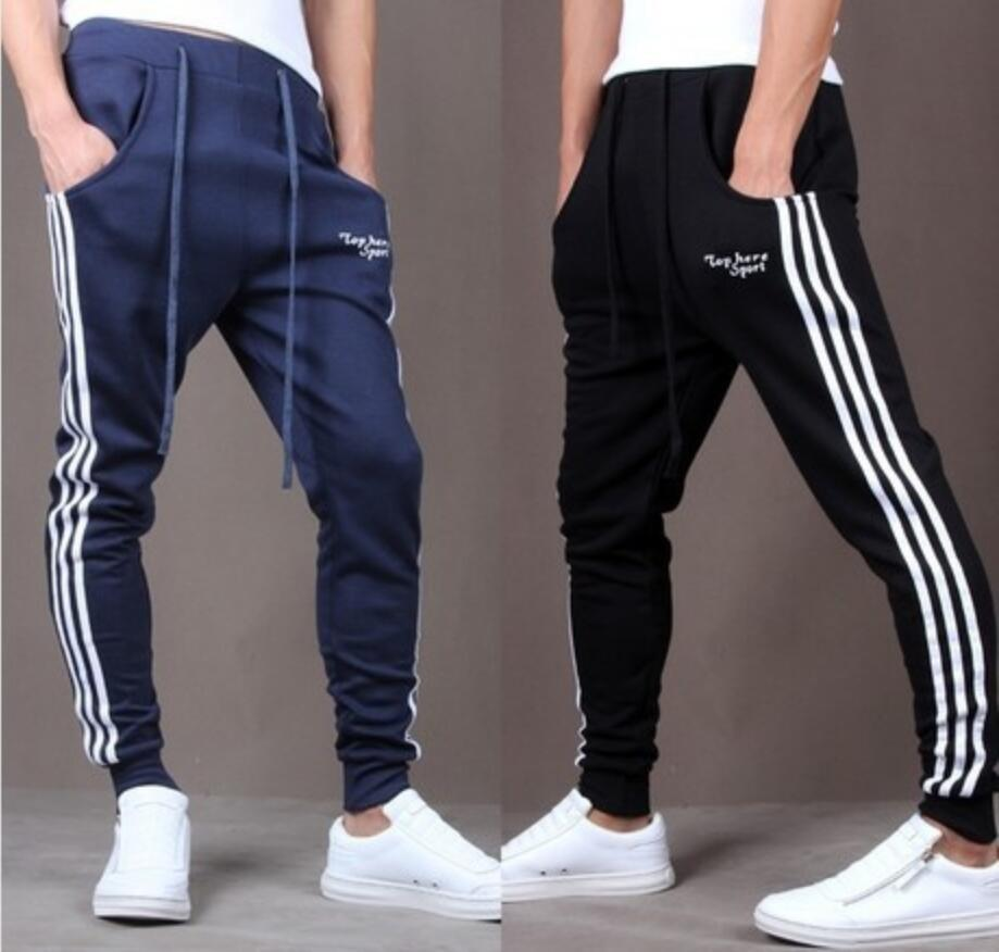 2019 New Style Trousers Athletic Pants Men's Three Bars Korean-style Slim Fit Men's Trousers Casual Pants X110