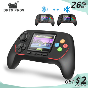 Data Frog 16 Bit Handheld Game Player Bluetooth 2.4G Online Combat HD Rocker Eyecare Console Built-in 788 In 1 Games for Kids