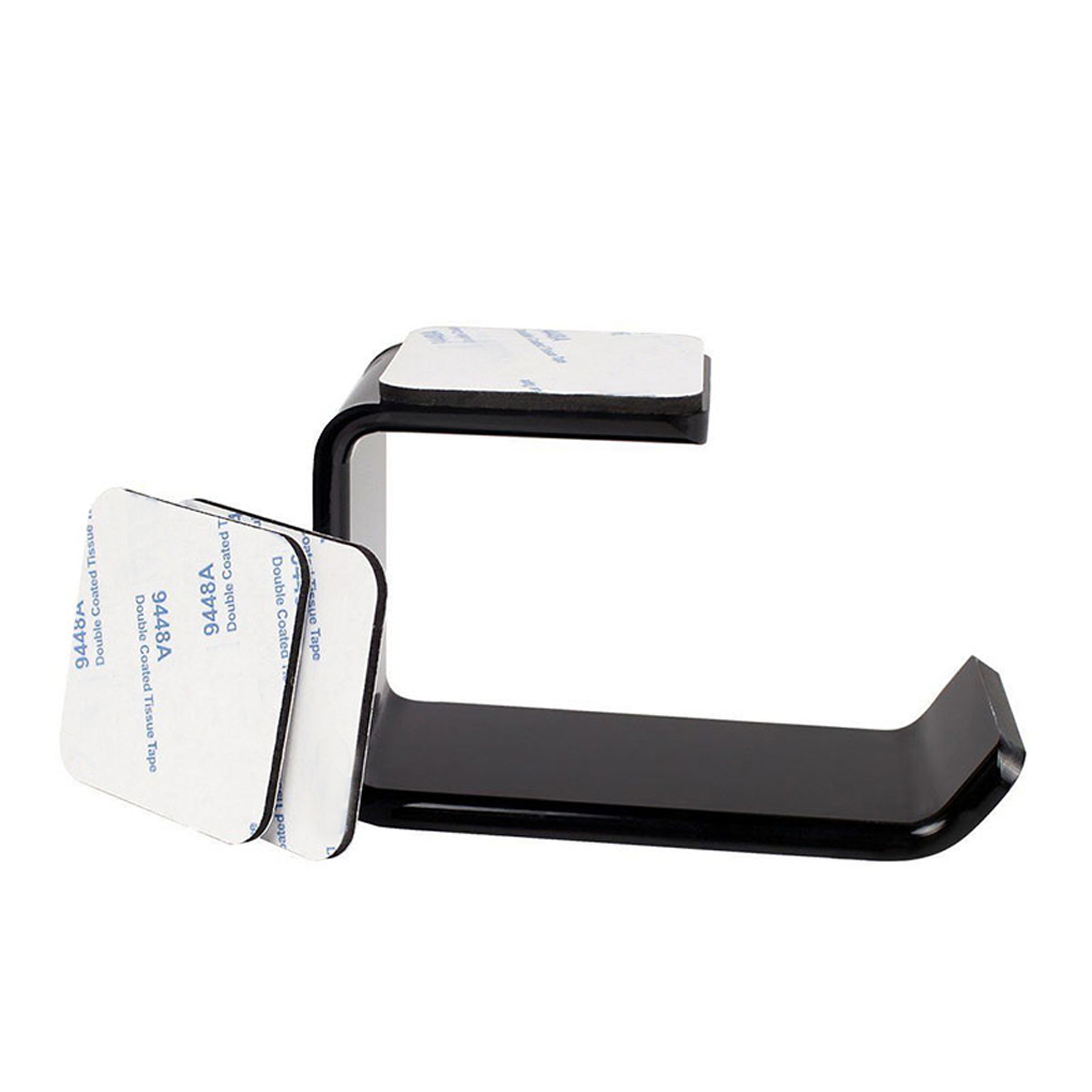 1pcs/2pcs Sticker Acrylic Headphone Bracket Hanger Under Desk Wall Mounted Headset Holder Hook Earphone Sticky Display Stand