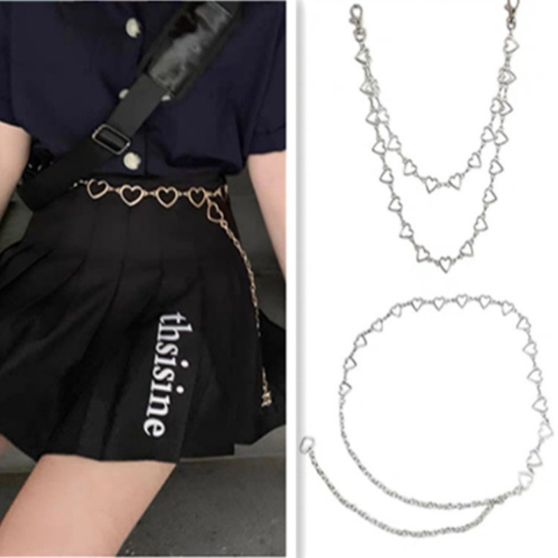 Waistband Pants Classic Waist Chain Love Heart Hollow Girdle For Women Hip Hop Style Fashion Fine Waist Belts 2021 Trendy