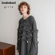 Платье imakokoni с длинным рукавом и кукольным воротником оригинальный