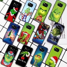 G-Grinch Stole Christmas Cartoon Phone Case For Xiaomi Mi 8 9 Note 10 A3 9T 10T 11 Poco x3 Lite Pro NFC Ultra black Shell