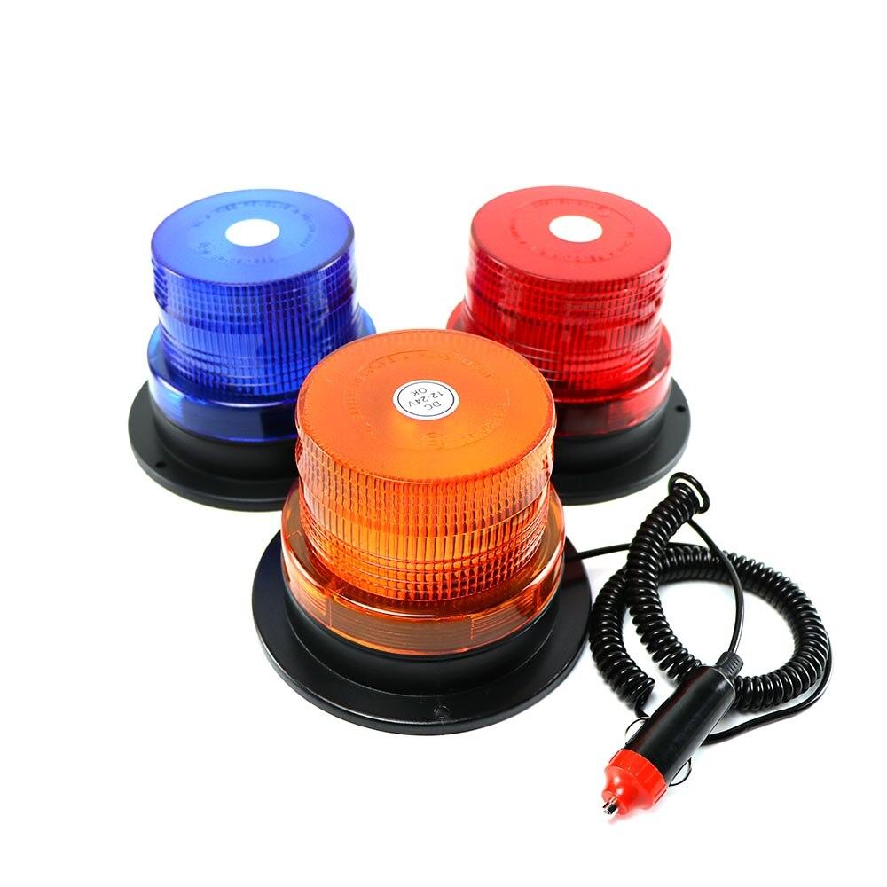 """4 """"Polegada dome 12 led magnético montagem do veículo, aviso de luz estroboscópica, âmbar vermelho, azul, polícia, pisca luzes para iluminação"""