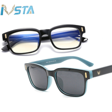 IVSTA Blue Light Glasses Frame Men Computer Glasses Gaming Nerd Anti B