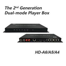 Huidu HD A4 A5 A6 Asynch & סינכרו גדול LED וידאו תצוגת נגן מצב כפול בקר 4 ב 1 נגן