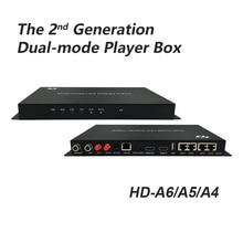 Huidu HD A4 A5 A6 Asynch & Synch 대형 LED 비디오 디스플레이 플레이어 듀얼 모드 컨트롤러 4 in 1 Player