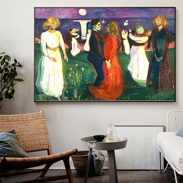 Dance of Life Edvard Munch Abstract Oil Painting on Canvas 2