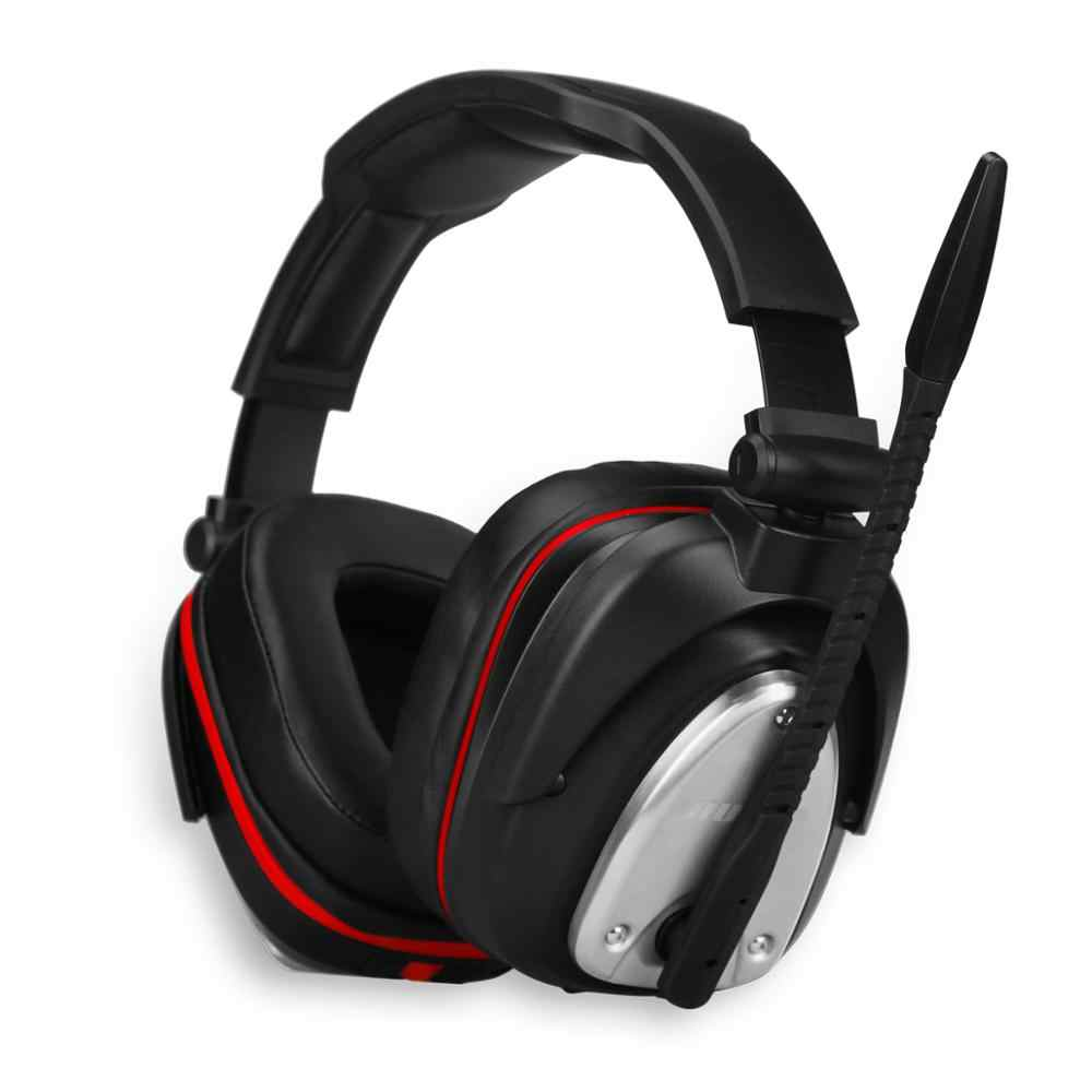 USB Wireless Gaming Headset Big Headphones with Light Mic Stereo Earphones Deep Bass for PC Computer Gamer Laptop PS4 New X-BOX