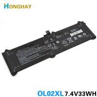 HONGHAY 7.4V 33wh Original OL02XLแบตเตอรี่แล็ปท็อปสำหรับHP EliteBook Elite x2 1011 G1 OL02XL HSTNN-DB5Z