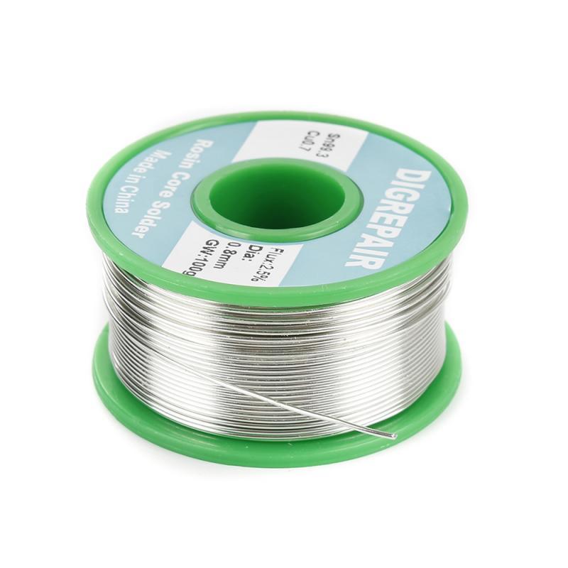 Lead Free Solder Soldering Wire Sn99.3 Cu0.7 Rosin Core For Electrical Solder Rosin Core Solder Tin 0.6/0.8/1.0MM Welding Line