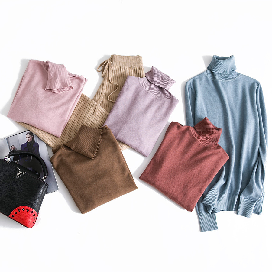 Cashmere Sweater Thin Basic Knitted Sweater Women Turtleneck Pullovers 2019 Autumn Winter Tops Female Jumpers