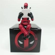 HOT X-Men Deadpool 2 Action Figure Sitting Posture Model Anime Mini Doll Decoration PVC Collection Figurine Toys model disney star wars darth vader 28cm action figure posture model anime decoration collection figurine toys model for children gift