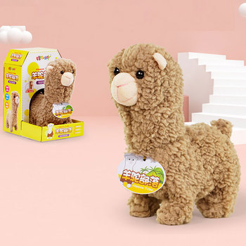 Robot Alpaca zabawki elektroniczne pluszowe owce chodzić śpiewać piosenki Nod zabawki słodkie zwierzę domowe elektryczne lalki muzyczne na prezenty urodzinowe dla dzieci tanie i dobre opinie TOPEKIA CN (pochodzenie) 3 lat ZZ882854 2pcs AA Unisex Zasilanie bateryjne SOFT Edukacyjne Mini Brzmiące Electronic Elektroniczne zwierzęta