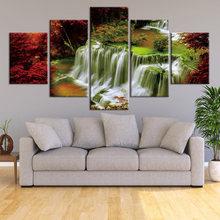 5 шт настенный постер с изображением кленового листа и водопада