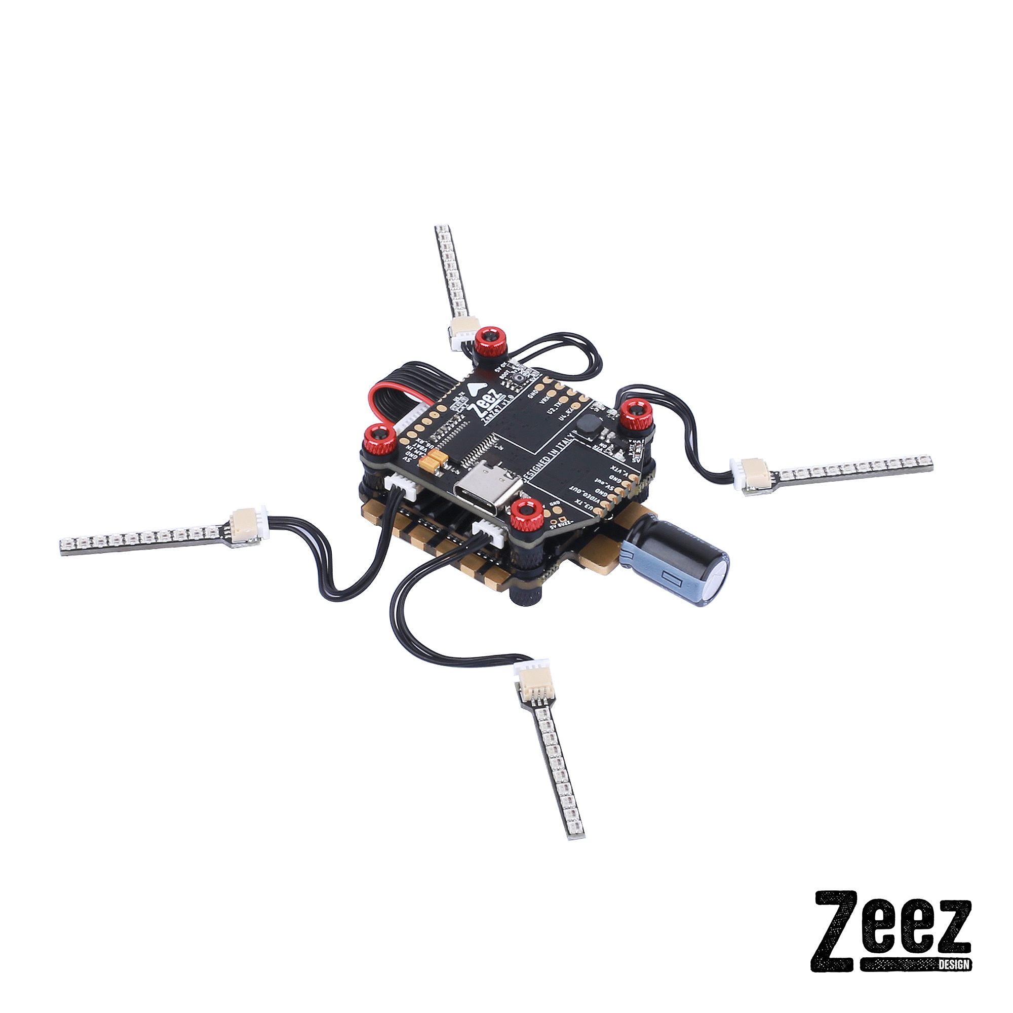 Zeez F7 Flight Controller Racing Combo FC 60A 4-in-1 ESC LED System For RC FPV Racing Drone image