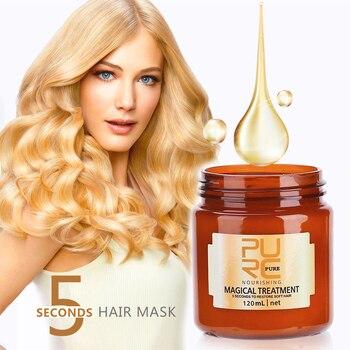 11.11 PURC Magical Hair Mask in Conditoner Quick Repair Soft Shiny Hair Care keratin Hair & Scalp Treatment 120ml