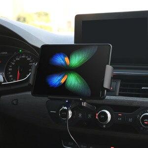 Image 4 - Qi voiture chargeur sans fil 10W Auto serrage support de téléphone pour Samsung Galaxy pli Fold2 S10 iPhone XS 11 Max Xiaomi Huawei Mate X