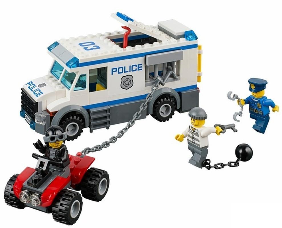 Pogo 198pcs 10418 Prisoner Transporter Urban Police City Building Blocks Bricks Toys Compatible With Legoinglys