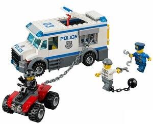 Pogo 198pcs 10418 Prisoner Transporter Urban Police City Building Blocks Bricks Toys Compatible with Legoinglys(China)