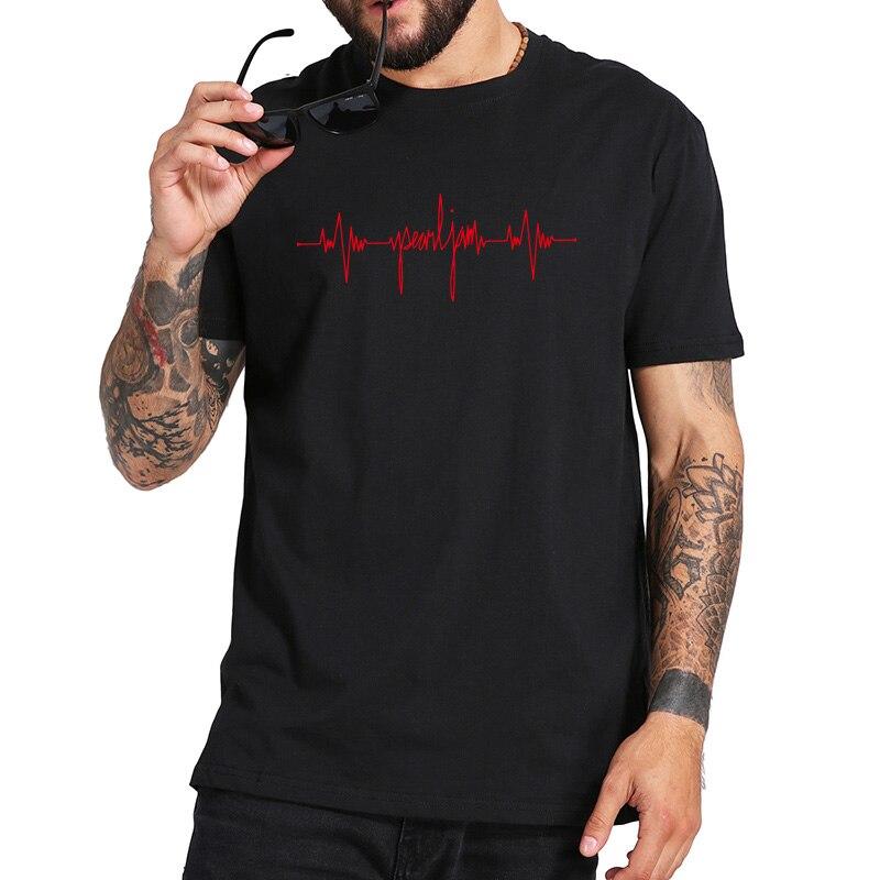 Peal Gigaton T Shirt Rock Band New Album Tshirt 100% Cotton Short Sleeve O Neck T-shirt EU Size High Quality Summer Soft Tops