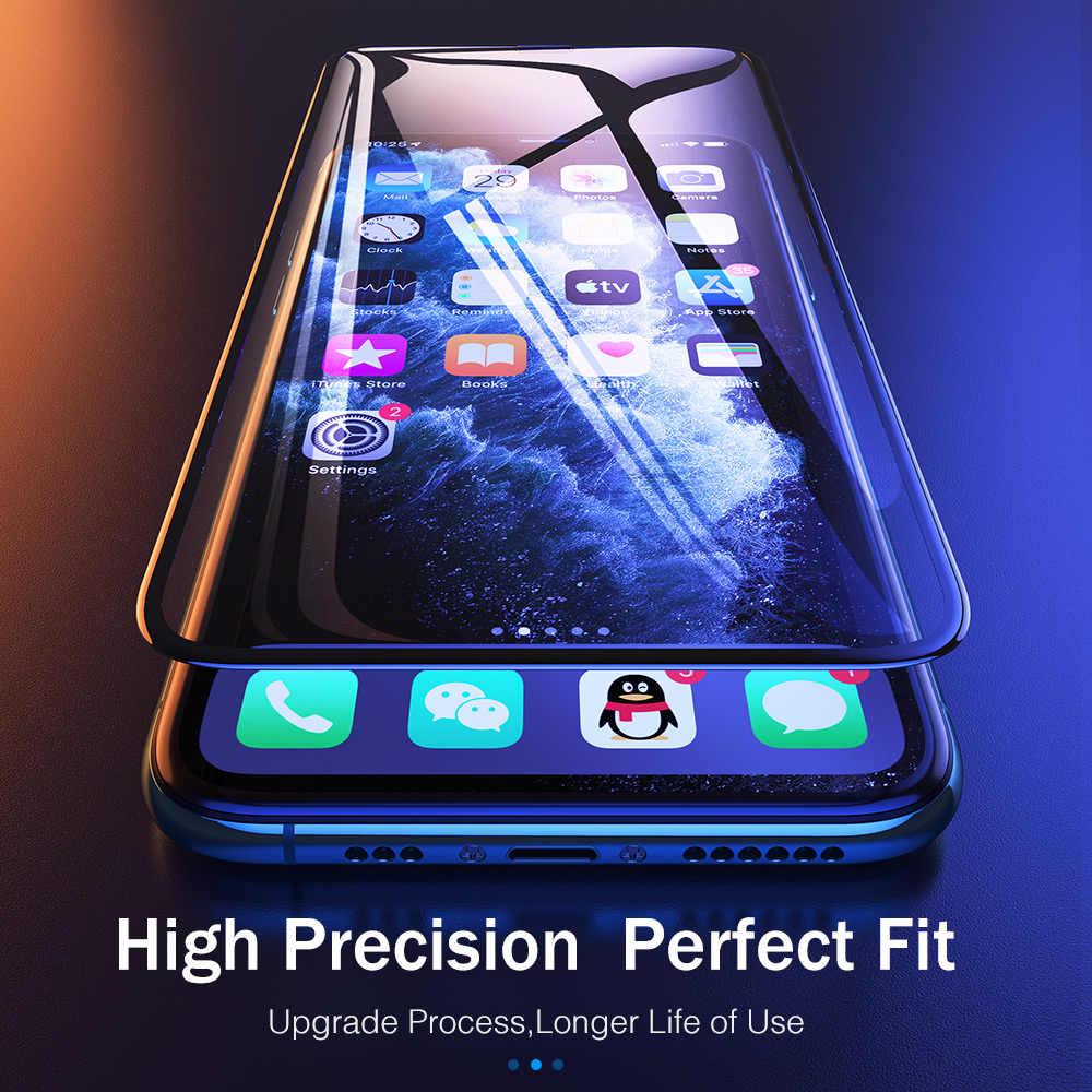 RocK 10D completa de la cubierta de vidrio protector templado para iPhone 11 Pro Max XR X XS 7 Plus 8 6 6S cristal protector para iPhone