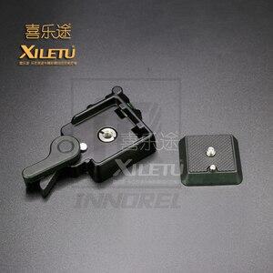 Image 3 - XILETU QR 40 de alta calidad, aleación de aluminio Universal Abrazadera de liberación rápida Q.R. Adaptador de placa trípode DSLR accesorio de fotografía