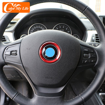 Color My Life Aluminum Alloy Accessories for BMW F20 F21 F25 F26 F30 F31 F32 F33 2010 - 2020 Steering Wheel Circle Trim Sticker image
