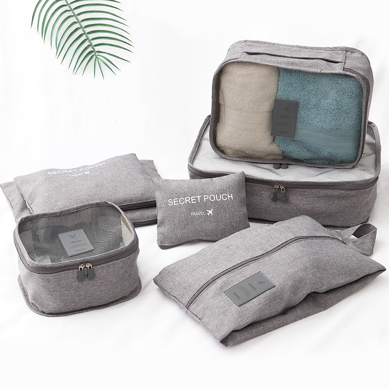 Packing Cubes For Suitcase Set, Travel Luggage Packing Organizer With Shoe Bag And Toiletry Bags For Storage Clothes Underwear