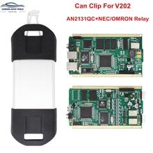 An2131qc chip completo pode clipe v202 + reprog v181 interface de diagnóstico automático ouro pcb para pode clip carros 1998-2020 frete grátis