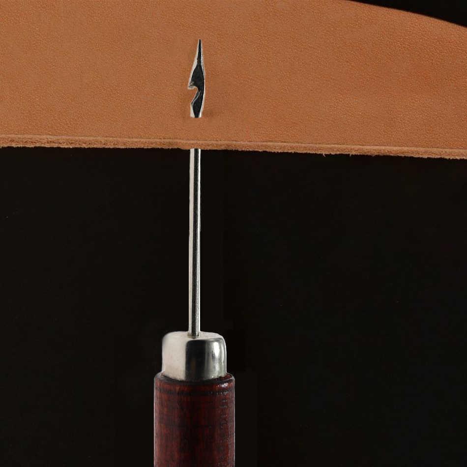 Poignée en bois Crochet en cuir Crochet tambour Crochet avec aiguilles Crochet français broderie perles cerceau outil de couture bricolage artisanat