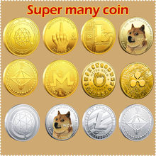 Dog Pattern CoinBitcoin/Ethereum/Litecoin/Dash/Ripple/EOS/Dogecoin Ada Cardano Crypto Coin IOTA Physic Silver/Various Coins