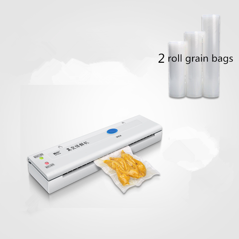 ShineYe DZ-320 220V/110V Household Vacuum Sealer Packaging Machine keep food flesh Vacuum Packer Including 10pcs+1roll Bag