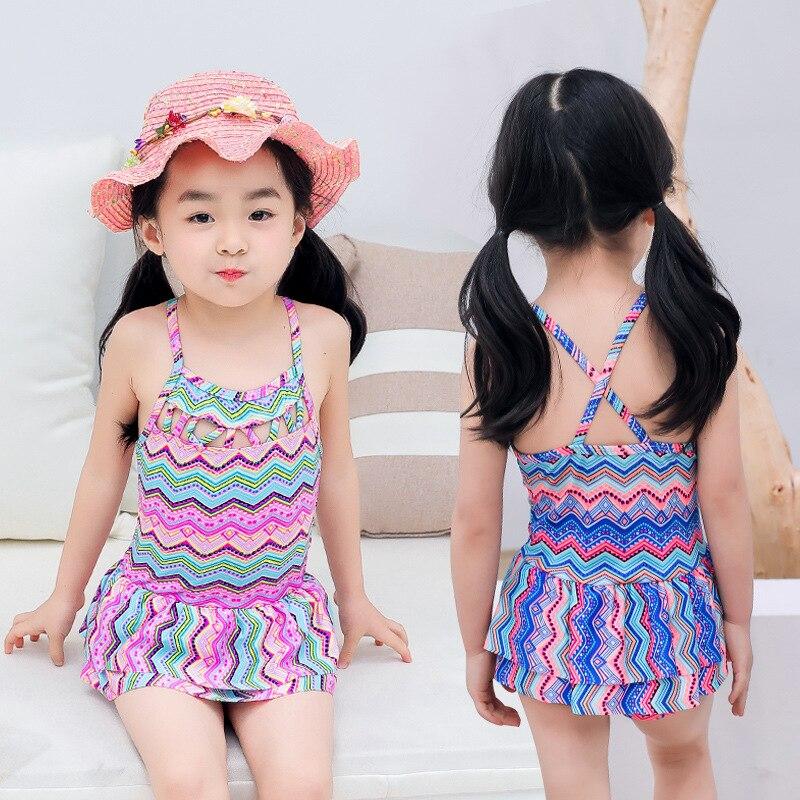 Girl'S Swimsuit Cute Baby Children Dress Boxers GIRL'S Swimwear CHILDREN'S Swimwear