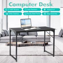 DouxLife Computer Laptop Desk Modern Style Computer Desk Wide Desktop Waterproof Steel Frame Table for Home Office Living Room