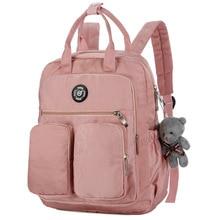 2019 hot fashion women's backpack waterproof nylon Multi Pocket Travel Bags laptop backpack bag  girl's school bag  women